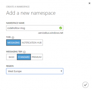 CreateSBNamespace