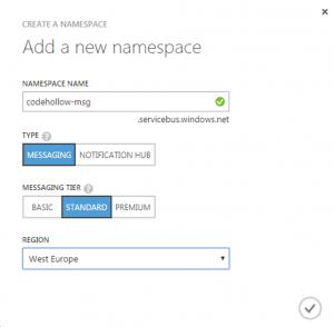 CreateSBNamespace