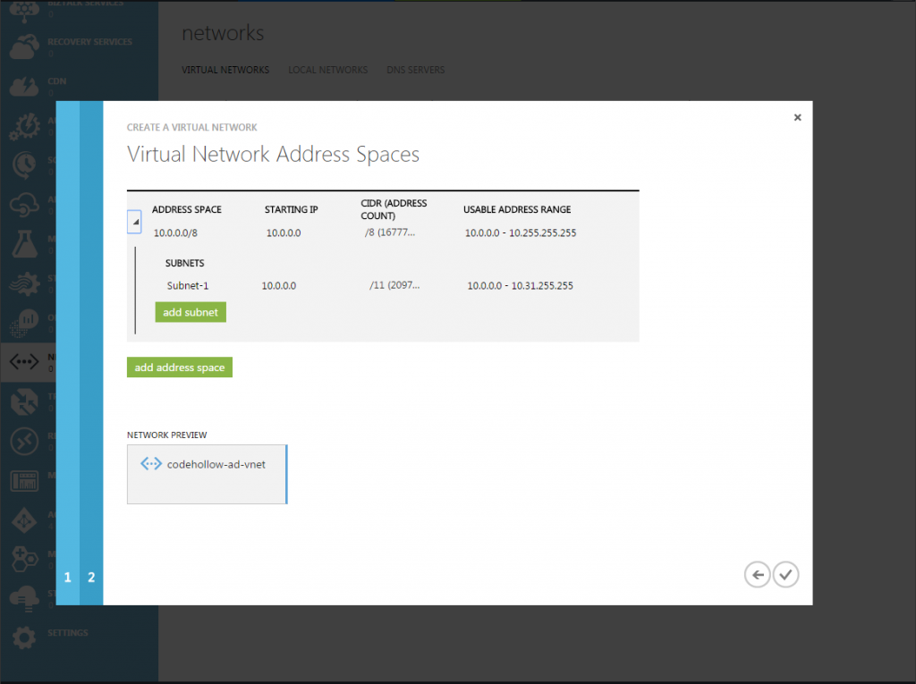 Add virtual network (3)