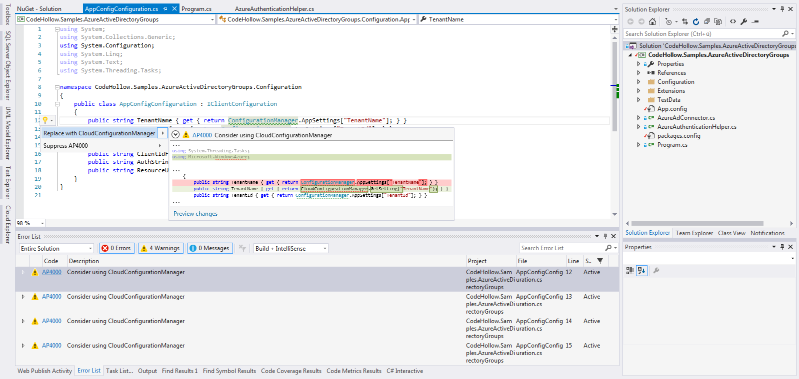 Use code analyzers in C# to improve code quality | codehollow