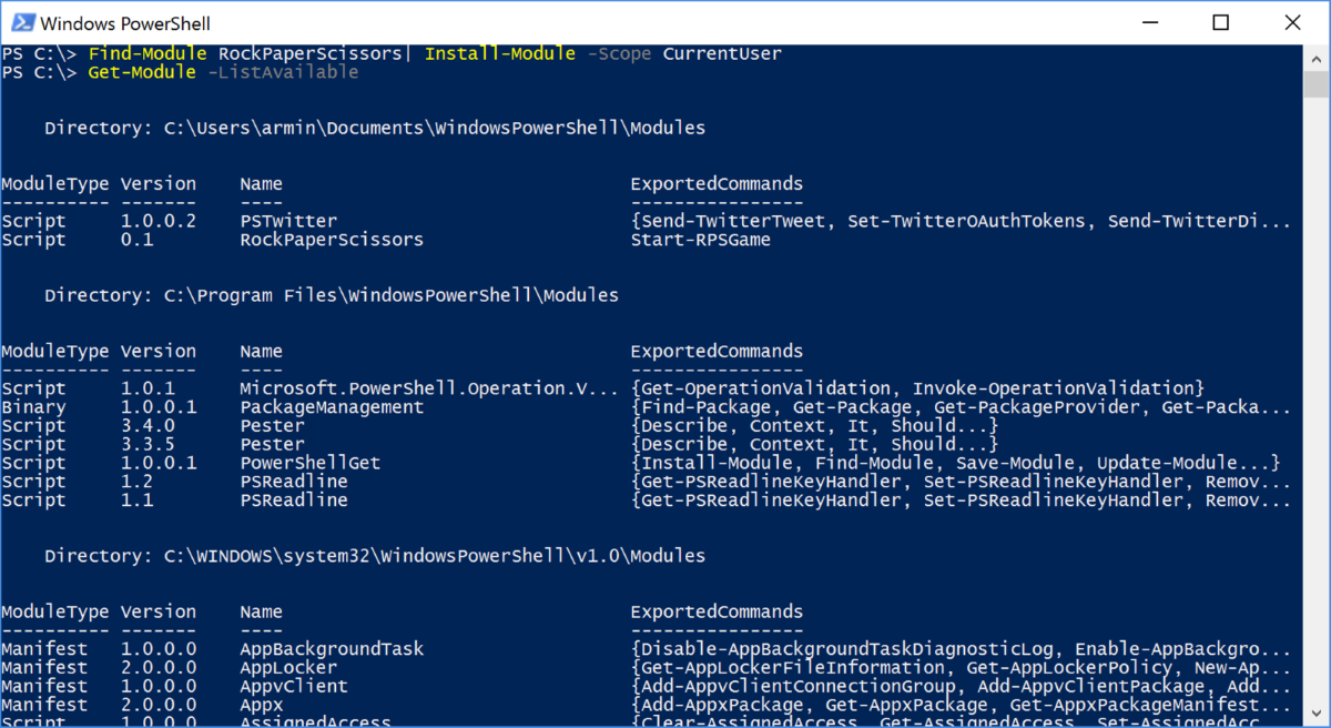 Powershell package management - NuGet, Chocolatey and Co | codehollow