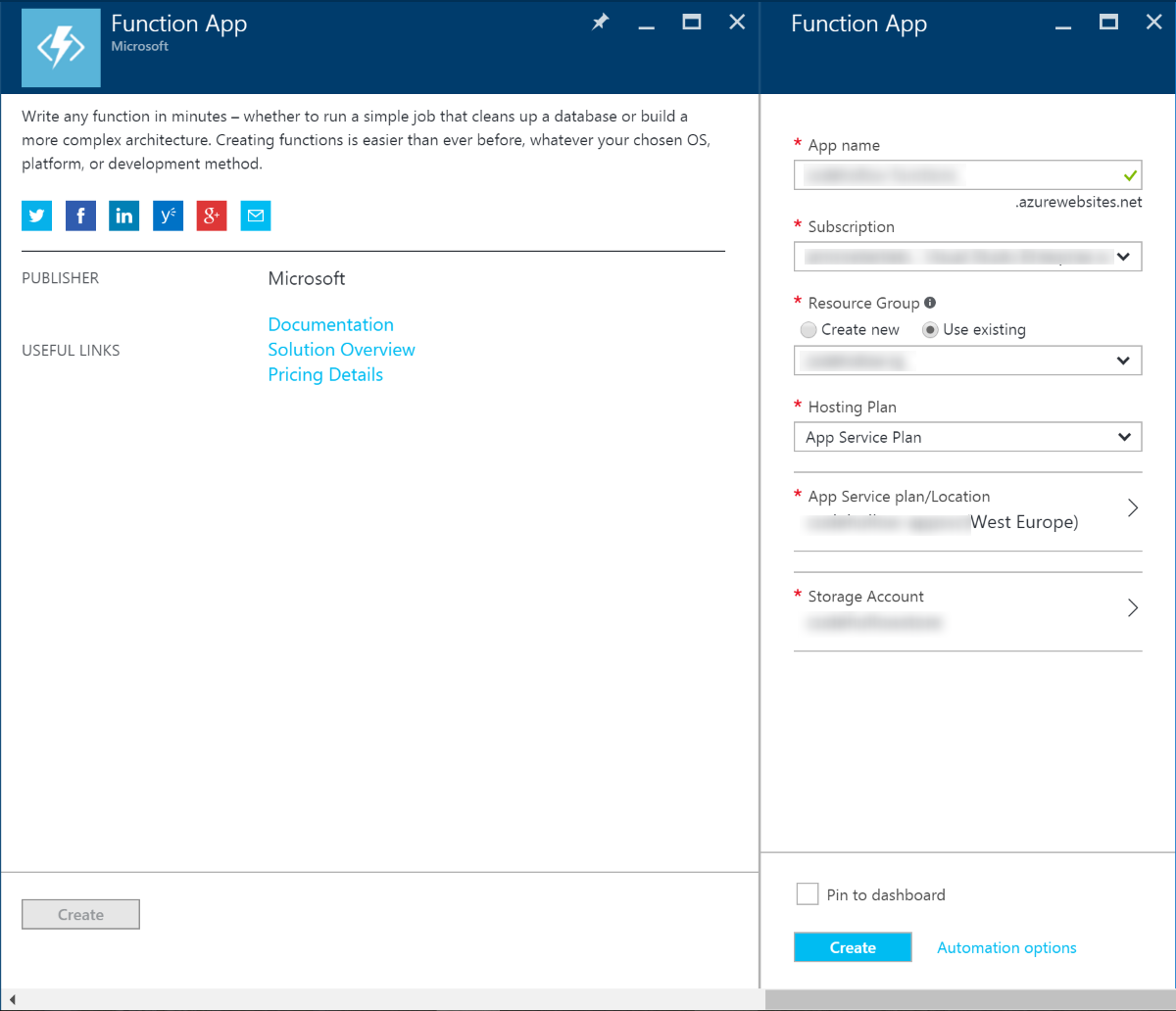 Working with Azure functions (part 1 - Powershell) | codehollow
