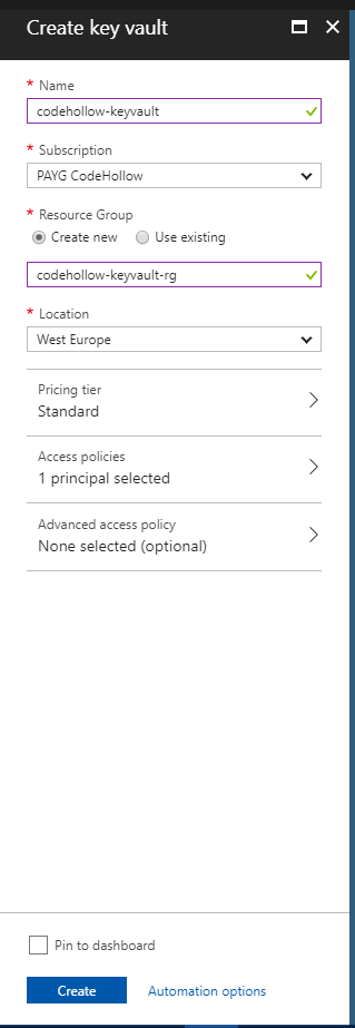 Get started with Azure key vault   codehollow