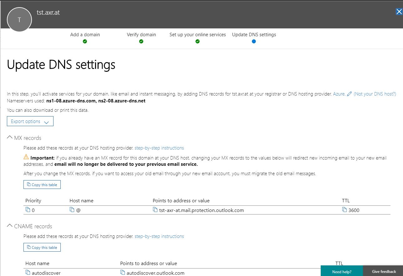 Office 365 - Forward all mails sent to a (sub)domain